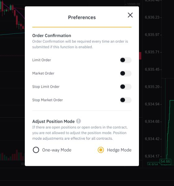 Binance Futures Hedge Mode